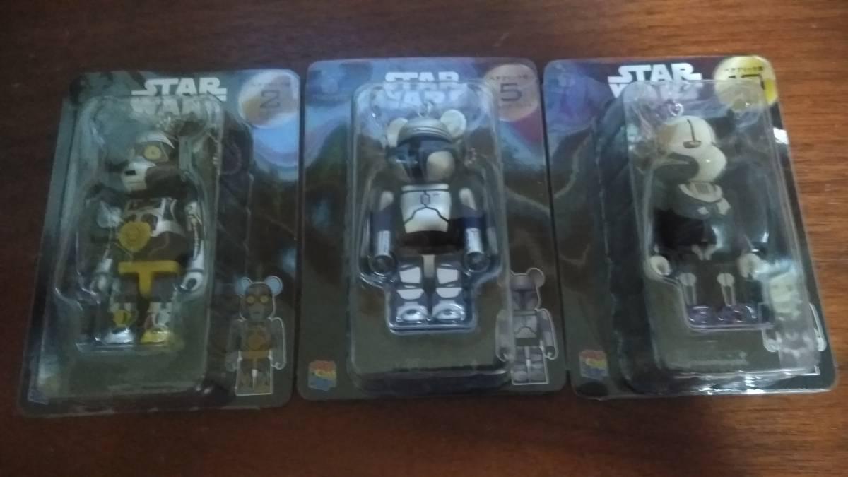 Happyくじ STARWARS スターウォーズ ベアブリック賞 2 C-3PO 5 ジャンゴ・フィット 10 グリーヴァス将軍 グッズの画像