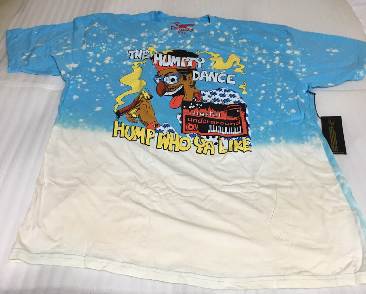 新品 VINTAGE WEAR LA DIGITALUNDERGROUNDTHE HUMPTY DANCE ブリーチ加工 Tシャツ 2PAC