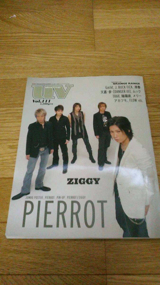 UV 2005年 PIERROT ZIGGY Gackt J BUCK-TICK DIR EN GREY 清春 クレイズ プラスティクトゥリー ORANGE RANGE ポスター付き