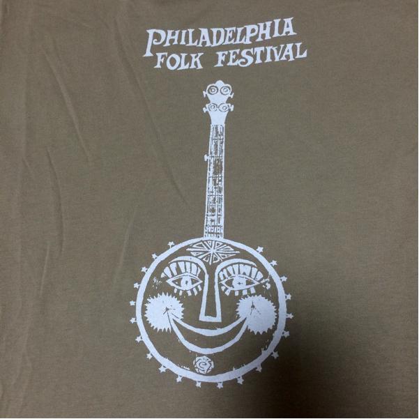 希少 USA製 90sヴィンテージ PHILADELPHIA FOLK FESTIVAL Tシャツ フェス フジロック バンド ライブグッズの画像