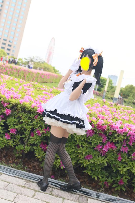 メイド服 ハロウィンなどにもどうぞ! ラブライブ 矢澤にこ カフェメイド覚醒前風 女性物Sサイズ グッズの画像