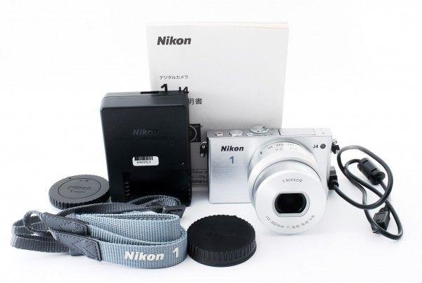 ニコン Nikon 1 J4 標準パワーズームレンズキット★ホワイト/215409