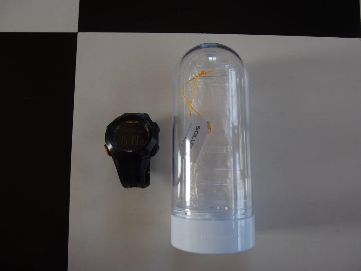 ★美品 SOLUS PRO 101 腕時計 ソーラス 高機能 心拍数測定 ランニング アウトドア スポーツ