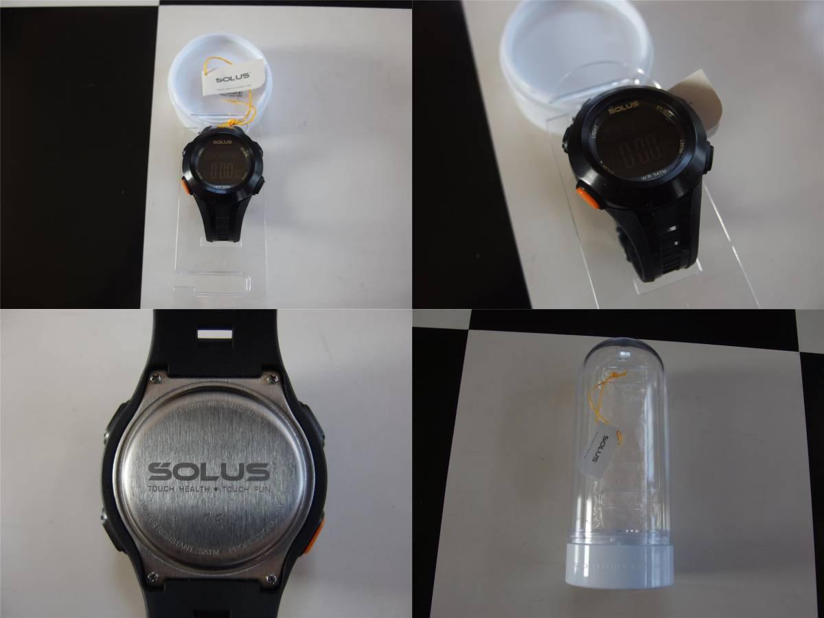 ★美品 SOLUS PRO 101 腕時計 ソーラス 高機能 心拍数測定 ランニング アウトドア スポーツ_画像3