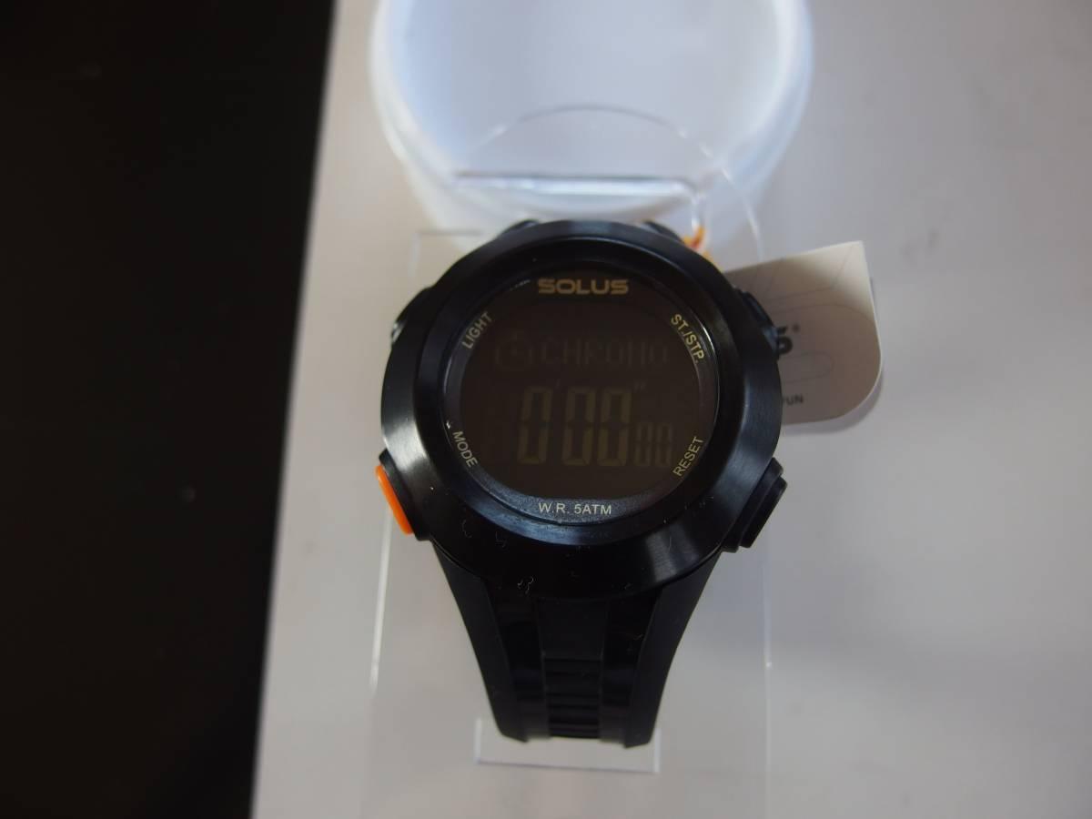 ★美品 SOLUS PRO 101 腕時計 ソーラス 高機能 心拍数測定 ランニング アウトドア スポーツ_画像2
