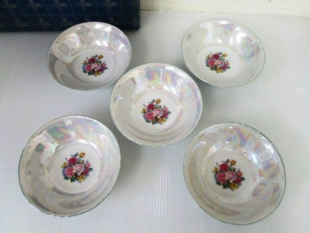 【未使用品】 ★ パール ★ サラダボウル 5枚セット バラの花