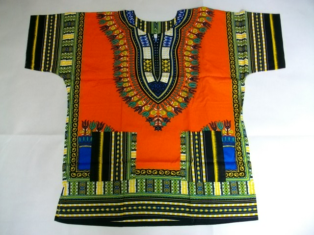 【新品】タイ製 アフリカの民族衣装風 チュニックシャツ 大きめサイズ TYPE B