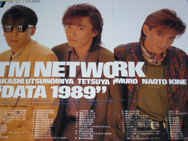 TM NETWORK TMネットワーク 切り抜き190p+おまけ ポスター+ポストカード貴重記事 1984年~宇都宮隆 小室哲哉 木根尚登
