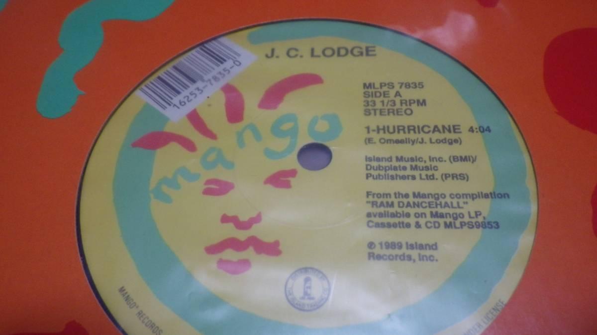 12inch org J. C. Lodge Hurricane ex レコード reggae レゲエ roots ラバーズ ルーツ digital デジタル オリジナル mango vintage マンゴ_画像1