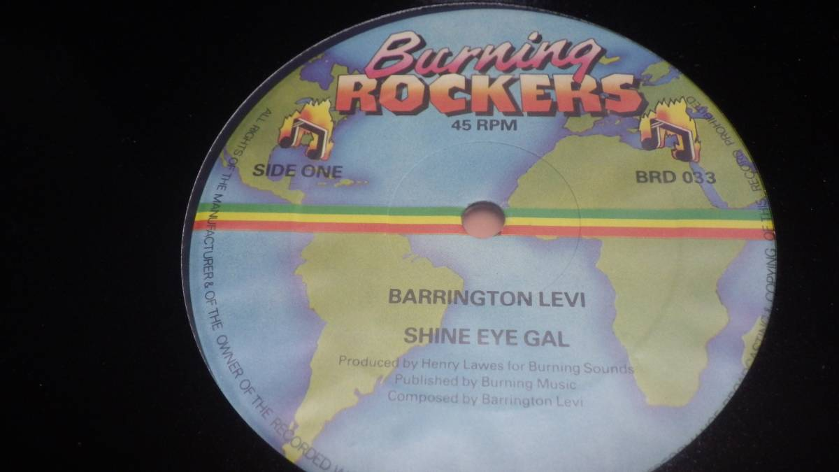 12inch org Barrington Levy Jah Thomas [Shine Eye Gal ] ex 送料510円 Burning Rockers UK オリジナル reggae レゲエ roots ルーツ_画像1