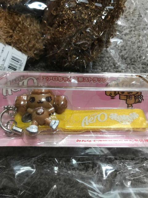 レア品◇新品!愛犬エアロ ぬいぐるみ&ストラップ(イエロー)浅田 真央_画像3