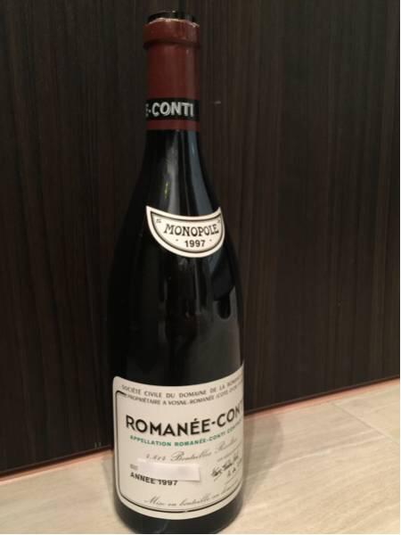 ロマネコンティ 空き瓶 1997 DRC ロマネ・コンティ 美品