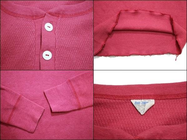 【L 42-44】 80's Sub-Zero サブゼロ サーマル Tシャツ USA製 ヘンリーネック 猫目ボタン ビンテージ ヴィンテージ 古着 オールド GE77_画像3
