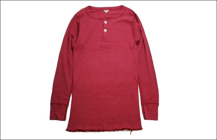 【L 42-44】 80's Sub-Zero サブゼロ サーマル Tシャツ USA製 ヘンリーネック 猫目ボタン ビンテージ ヴィンテージ 古着 オールド GE77_画像1