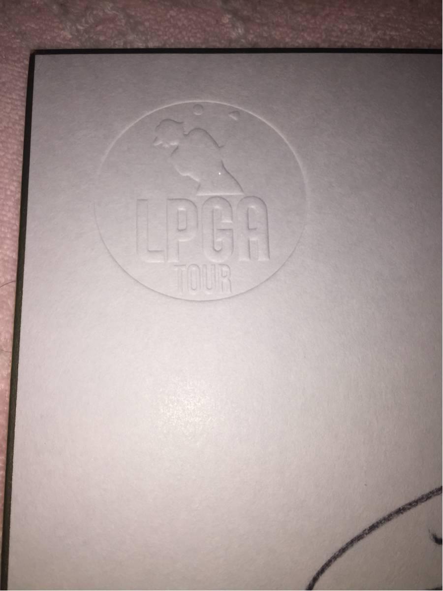 LPGA 香妻琴乃 漢字フルネーム 直筆サイン日本女子プロゴルフ協会オリジナル非売品色紙③_画像3