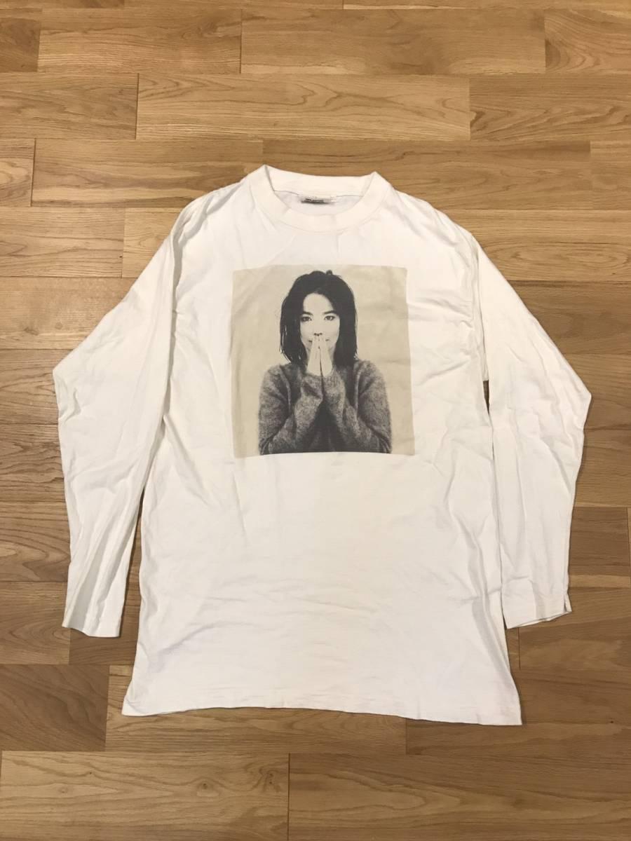 90s ビョーク Bjork ロング Tシャツ XL ヴィンテージ ロックT ツアーT ビッグシルエット RAWボディ vintage オフィシャル ヨーロッパ製 ライブグッズの画像