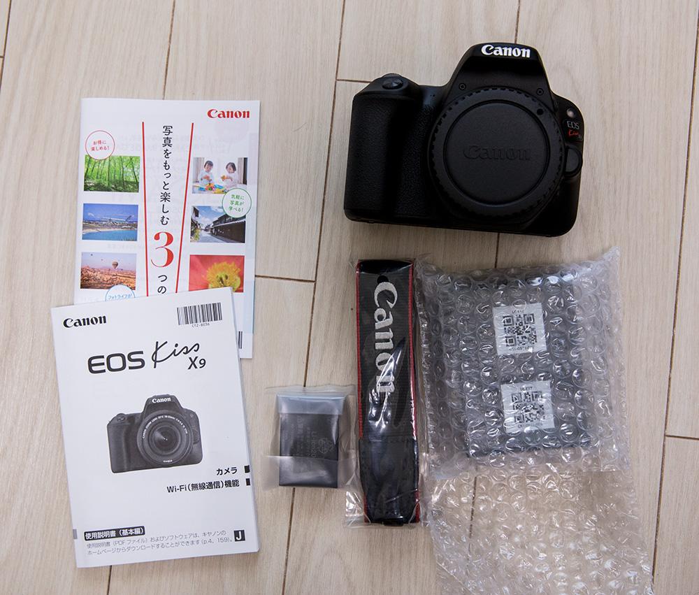 新品未使用品 Canon EOS Kiss X9 (ブラック) ボディ 送料込み