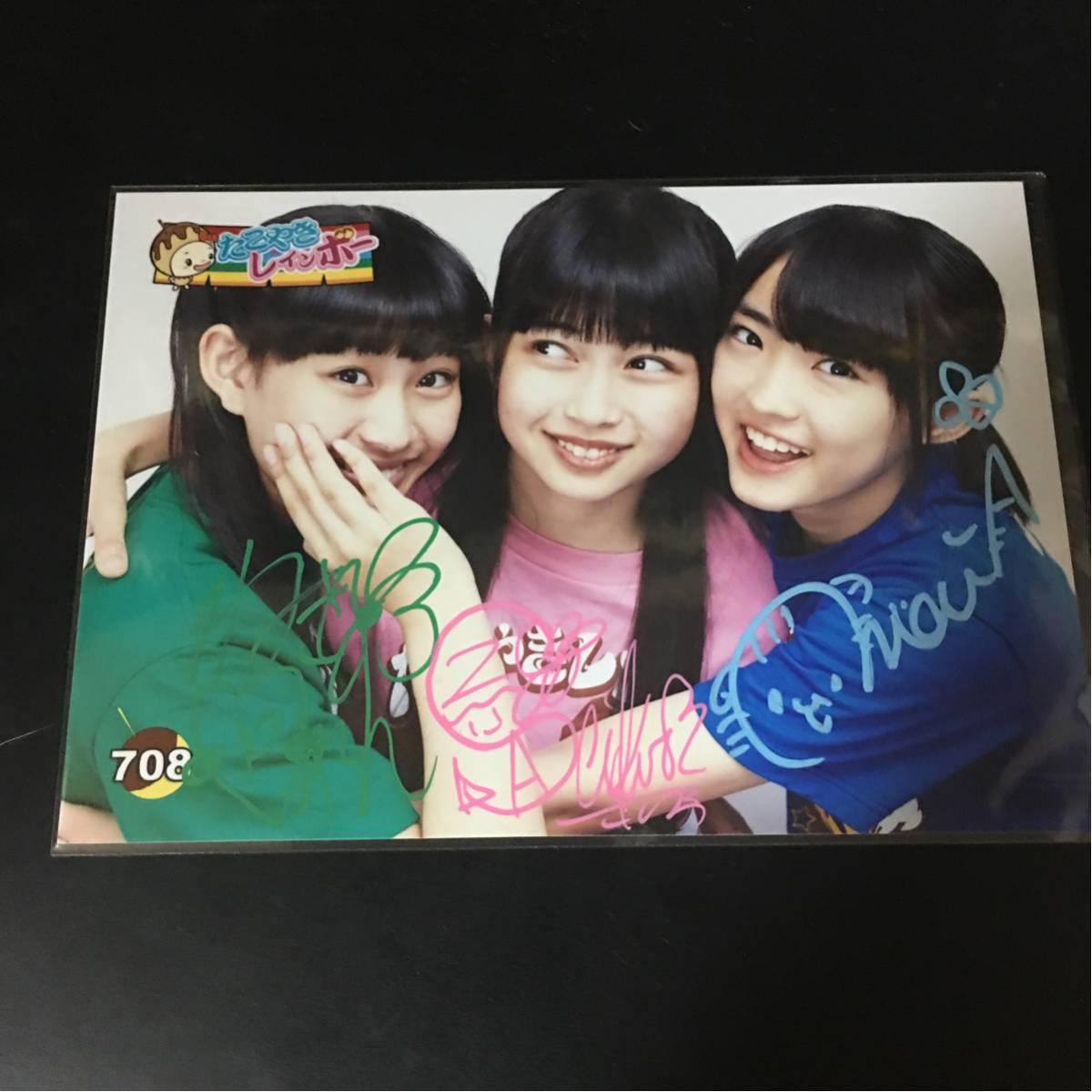 たこやきレインボー 春名真依 彩木咲良 根岸可蓮 生写真 サイン たこ虹 まいまい さくちゃん ライブグッズの画像