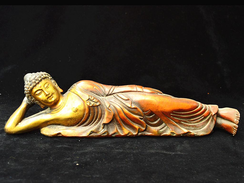 時代蔵出 銅製鍍金 大日如來臥姿像 仏像 古美術 珍品