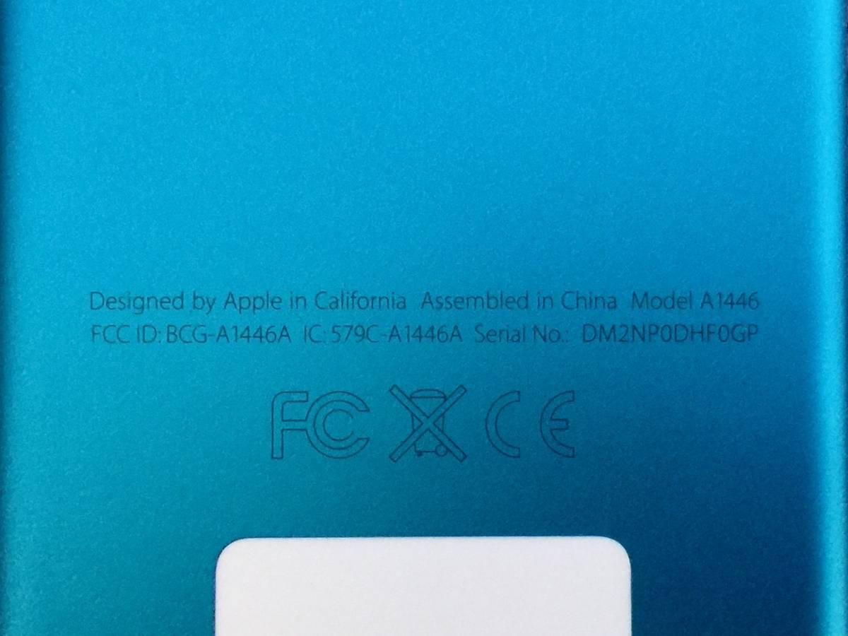 01-D830P【Apple/アップル】iPod nano 第7世代 (16GB) A1446 ブルー_画像3