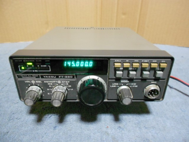 YAESU FT-280 144MHz オールモード 無線機 動作品 付属品一式付き