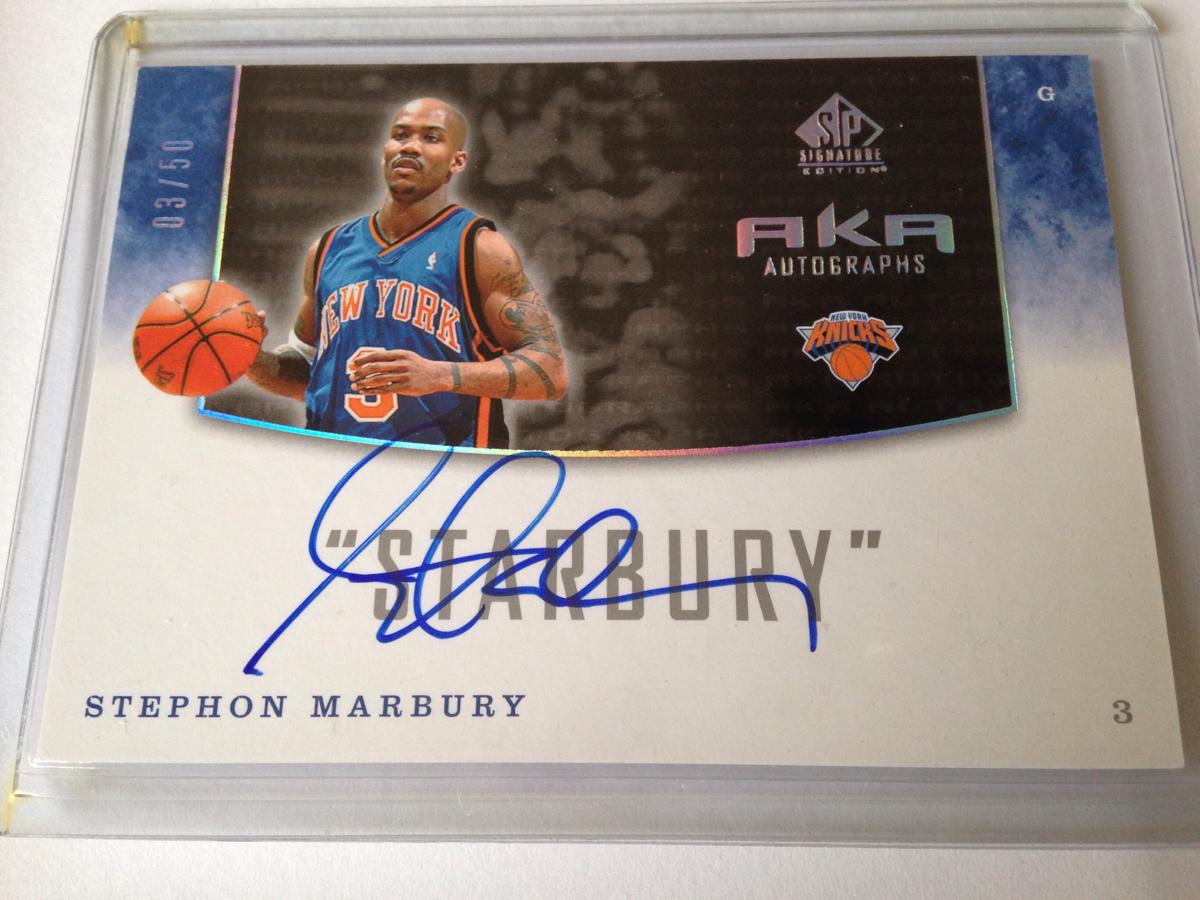 NBA Upper Deck SP Signature Edition AKA Autographs ステフォン・マーブリー Stephon Marbury 直筆サインカード グッズの画像
