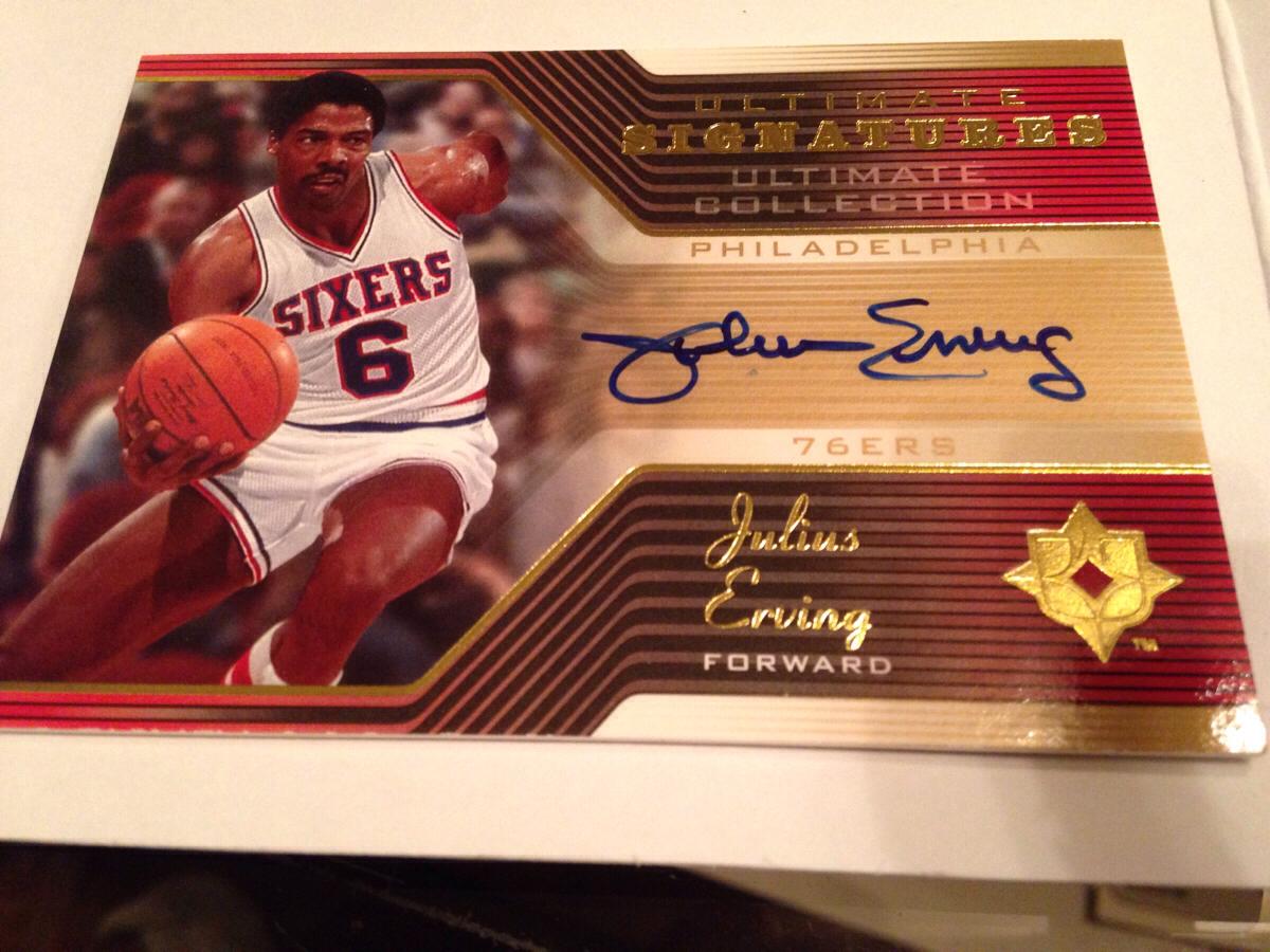 NBA Upper Deck Ultimate Signatures ジュリアス・アービング 直筆サインカード グッズの画像