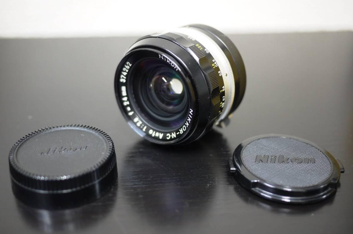 22 Nikon ニコン NIKKOR ニッコール NIKKOR-N.C 1:2.8 f=24mm カメラ レンズ MF マニュアル