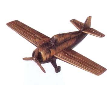 ▼▼▼アンティーク真鍮風置物(鉛筆削り付)プロペラ戦闘機F4E▼▼▼