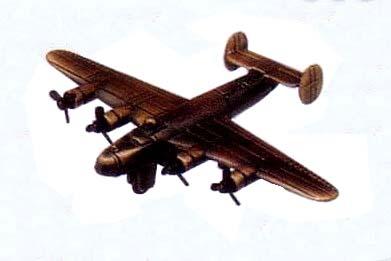 ▼▼▼アンティーク真鍮風置物(鉛筆削り付)B-24爆撃機▼▼▼