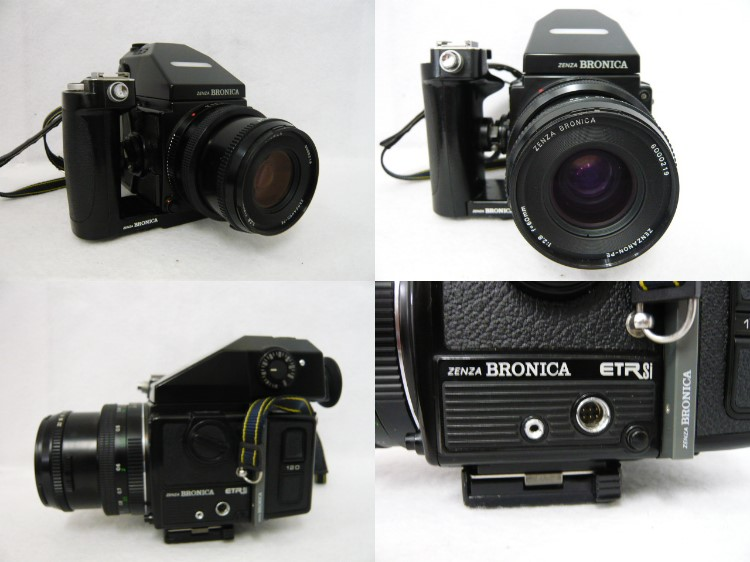 [10725] ZENZA BRONICA ETR Si 本体/ レンズ ZENZANON PE 1:2.8 f=60mm ジャンク品_画像2