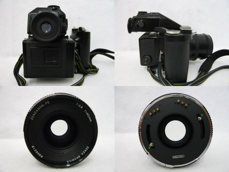 [10725] ZENZA BRONICA ETR Si 本体/ レンズ ZENZANON PE 1:2.8 f=60mm ジャンク品_画像3