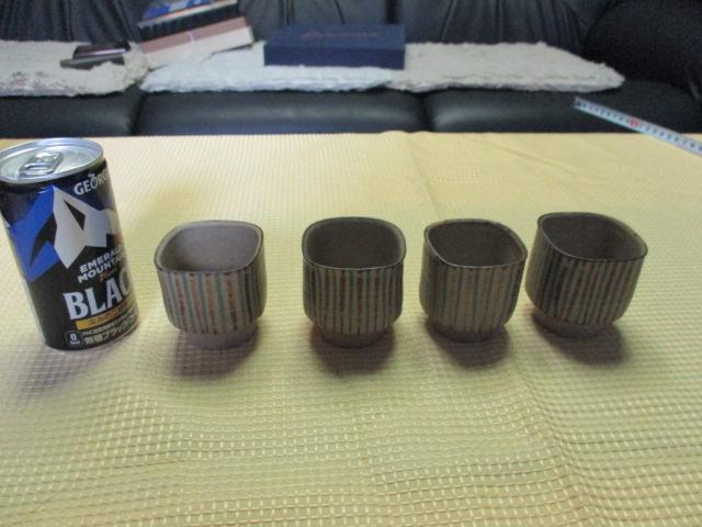 ★湯呑み★4客★陶器★食器★工芸★お茶・日本酒・コーヒーなどに・・★