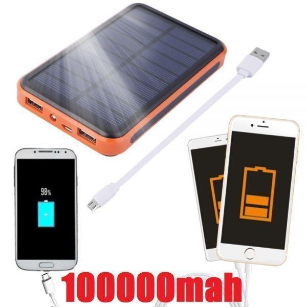 ■新品・送料無料! 100000mAh! 大容量防水ソーラーモバイルバッテリー 生活防水 スマホ Android iPhone iQUOS xperia AQUOS htc au sony■