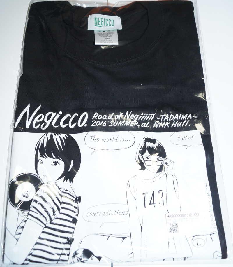 Negicco「江口寿史×Negicco Tシャツ」復刻版 黒 Lサイズ