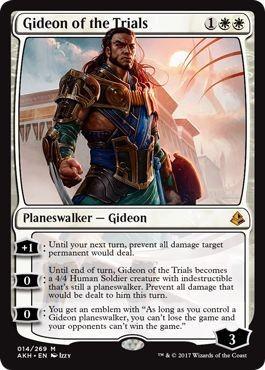 え白 試練に臨むギデオン 1枚(4枚在庫s 英 良品 AKH)/Gideon of the Trials(MTG /アモンケット/Amonkhet/)_画像1