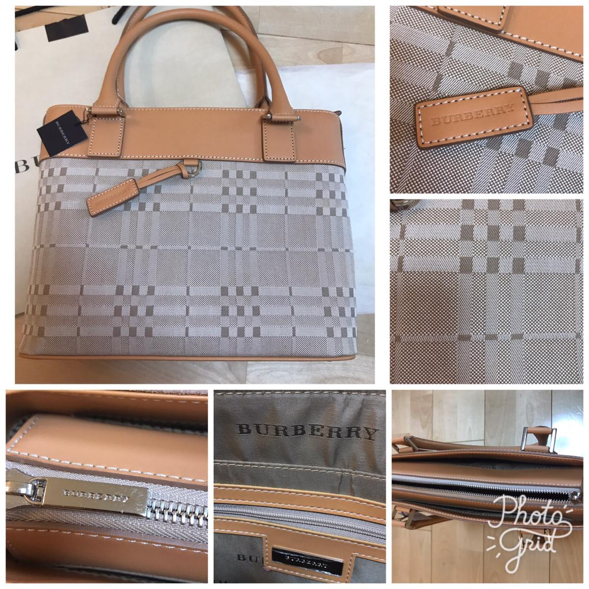 バーバリー ハンドバック バッグ 鞄 カバン 日本製 新品未使用 秋冬 e_画像3