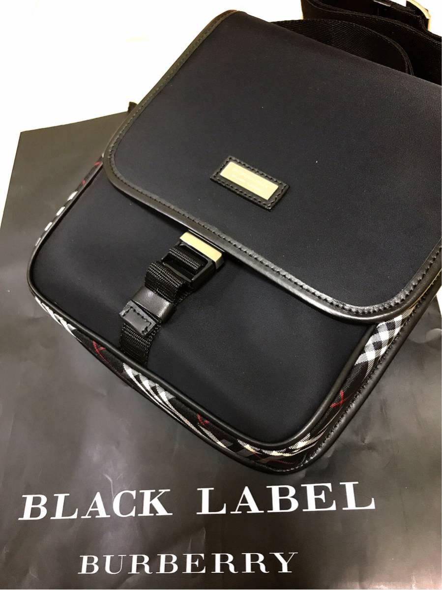 バーバリー ブラックレーベル ショルダー バッグ レア 本物 1円 新品 未使用 秋冬