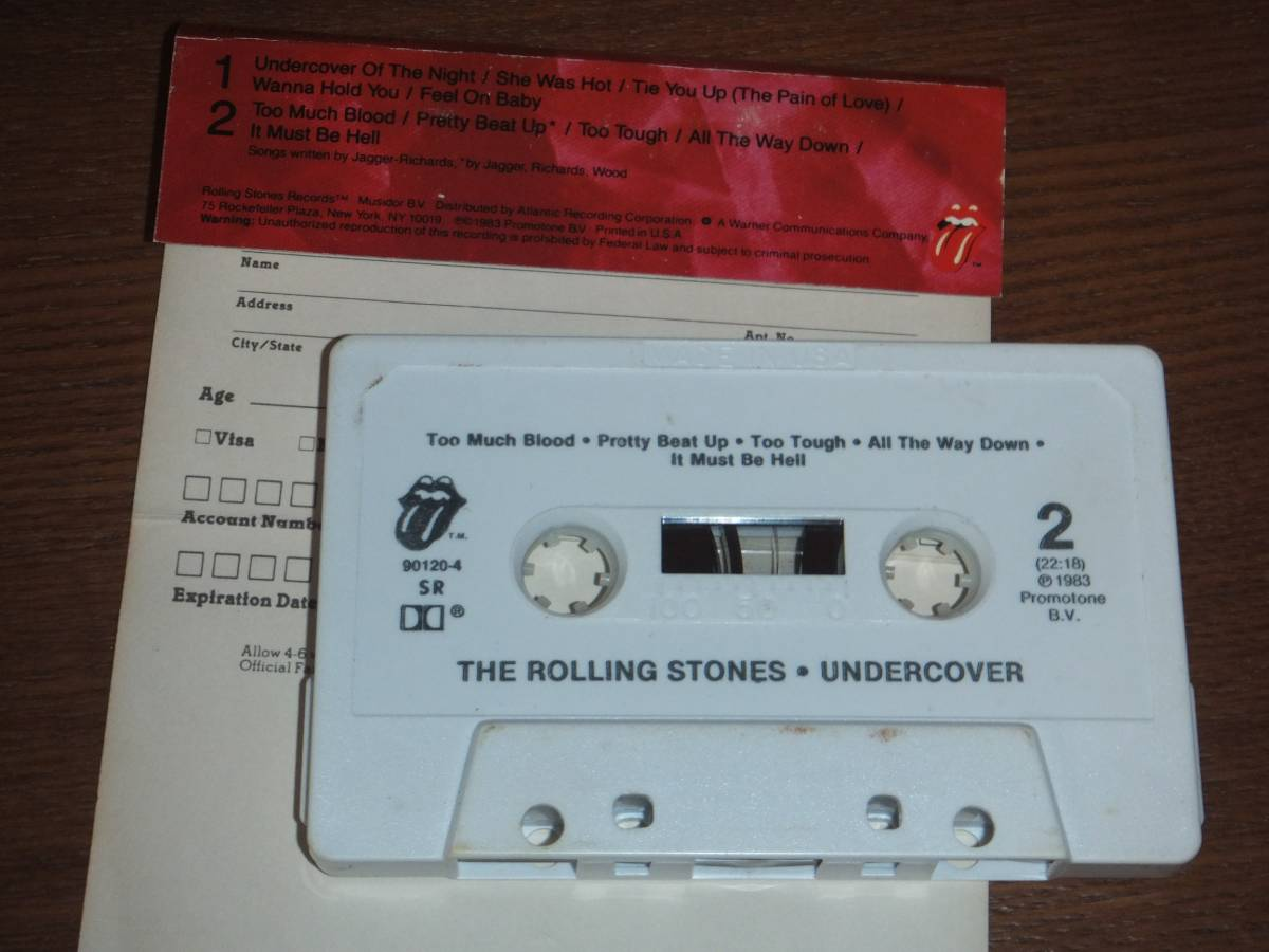 US盤カセットテープ★THE ROLLING STONES/Undercover_画像3