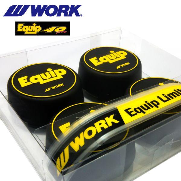 WORK(ワーク) 40周年記念 EQUIP 数量限定センターキャップ! エクイップ01 03 40 に装着可能。 リムステッカー付き_画像3