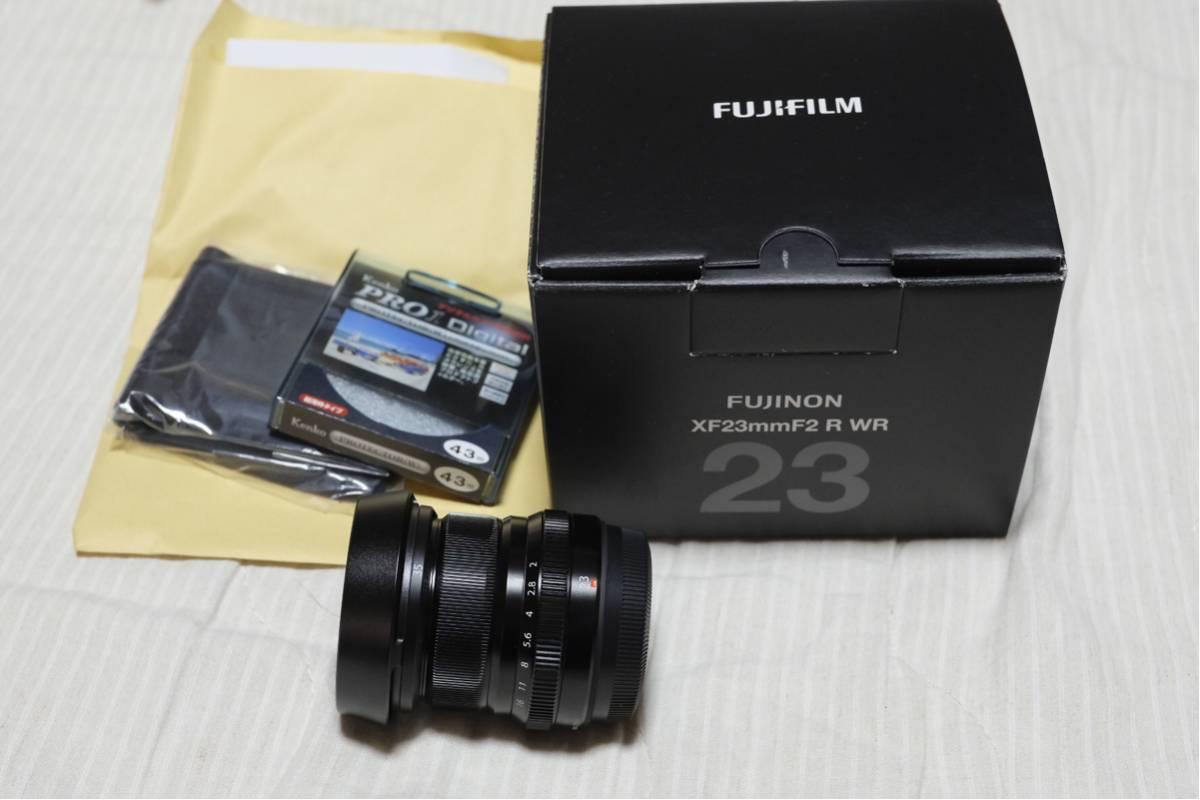 【美品】FUJINON XF23mm f2 R WR+別売XF35用メタルフード 保護フィルターつき 保証有り
