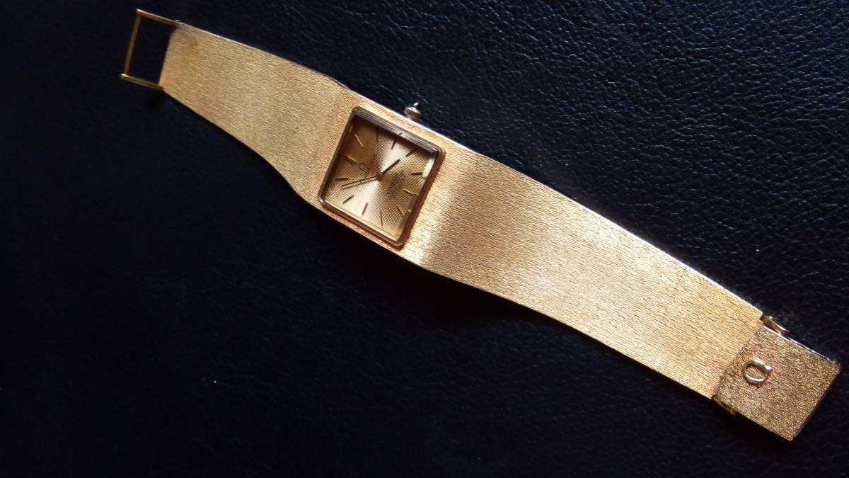 究極の絶版品!オメガが誇る最高級品★メンズブレス時計★18金無垢★なんと!圧巻の総重量118g★完働品★アンティーク