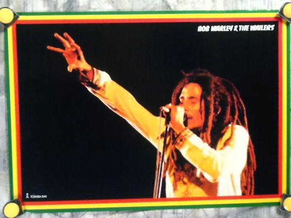 k5【ポスター/B-2-515x728】ボブ マーリー&ザ ウェイラーズ-Bob Marley & The Wailers/販促用非売品ポスター