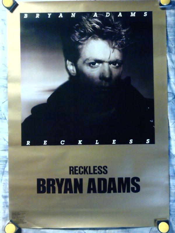 b24【大型ポスター/A1-594x841】ブライアン アダムス-Bryan Adams/'84 /販促用非売品ポスター