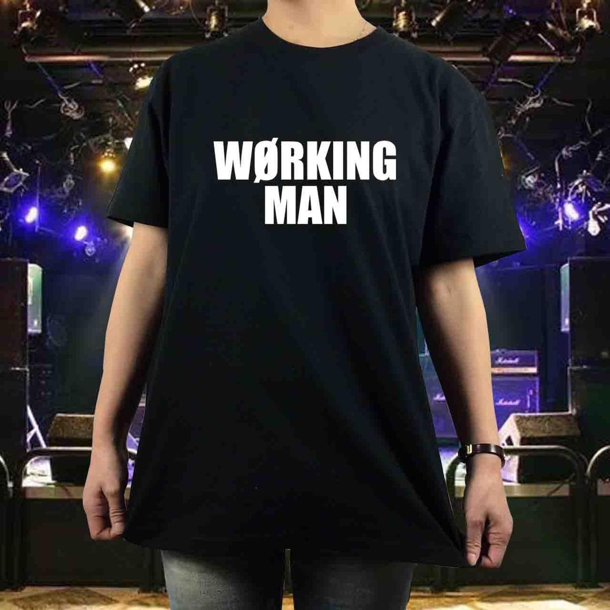 新品 BOOWY ボウイ WORKING MAN Tシャツワー S M L XL 氷室 布袋 GIGS 大きい ビッグオーバーサイズ XXL 3XL 4XL 5XL ロンT 長袖 黒対応可 グッズの画像