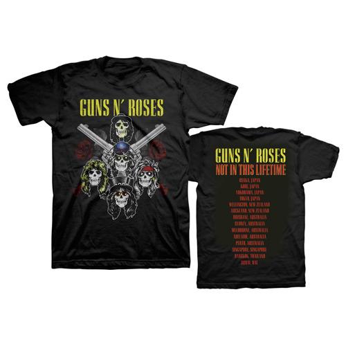 ★ガンズ・アンド・ローゼズ / Guns N' Roses ★Pistols And Roses Tee【完売限定商品】銃と薔薇 S★2017 さいたま 東京 新品★送料無料