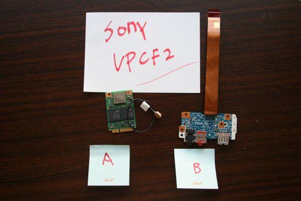 送料無料 SONY VIAO VPCF2  カード USB部品 ケーブル
