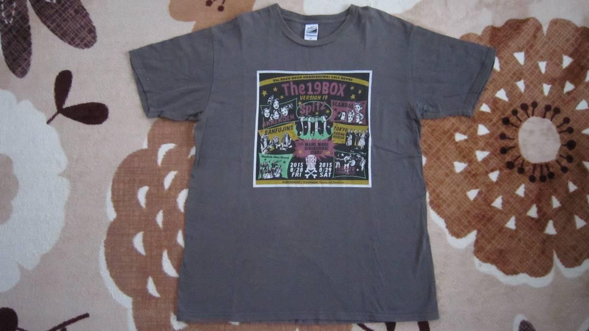 スピッツ ロックロックこんにちは! Ver.19 ~TheジュークBOX~ Tシャツ チャコール XL ライブグッズの画像