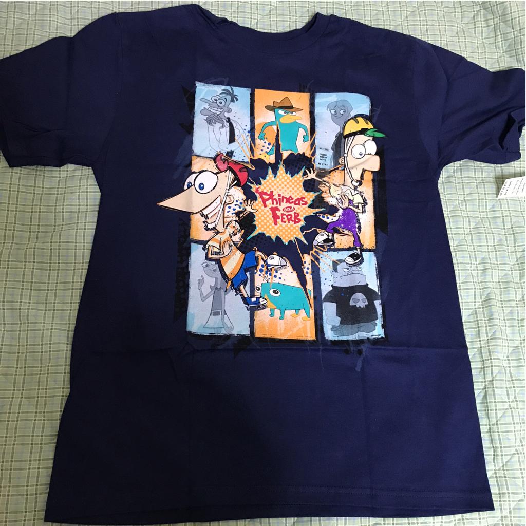 USAディズニーストア フィニアスとファーブ ペリー エージェントP Tシャツ BOYS-XL(14歳) 未使用タグ付 ディズニーチャンネル ディズニーグッズの画像