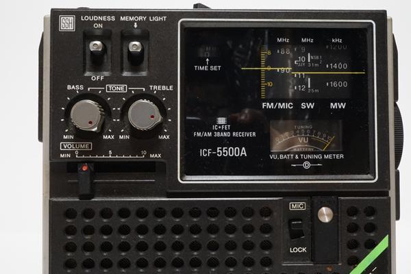 ジャンク! SONY ソニー 短波 3バンド BCLラジオ スカイセンサーICF 5500A _画像3